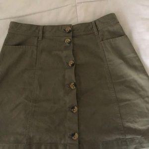 H&M Olive Skirt